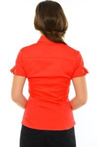 Рубашка красная с коротким рукавом М8879