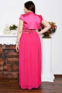 Платье Двойка длинное розовое нарядное Р5709