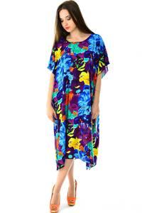 Платье длинное с коротким рукавом летнее Н7314
