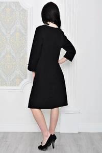 Платье короткое офисное черное Р1799