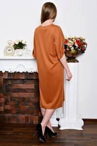 Платье длинное деловое однотонное Р7267