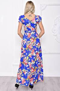 Платье длинное летнее с принтом С8393
