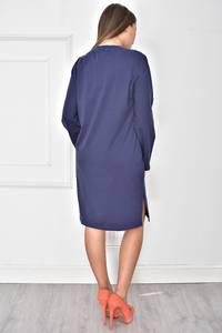 Платье короткое повседневное синее У7835