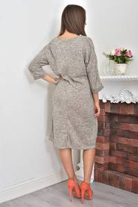 Платье короткое трикотажное однотонное Ф0047