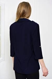 Рубашка синяя с принтом Р3190
