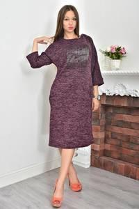 Платье короткое трикотажное однотонное Ф0048