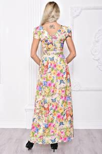 Платье длинное летнее с принтом С8394