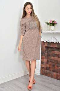 Платье короткое трикотажное однотонное Ф0049