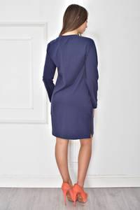 Платье короткое повседневное синее У7837
