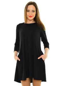 Платье короткое вечернее черное М6784