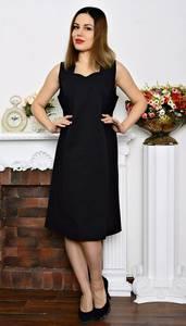 Платье короткое черное летнее Р6382