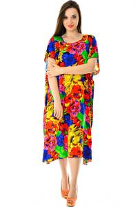 Платье длинное с коротким рукавом летнее Н7316