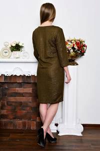 Платье короткое деловое однотонное Р7270