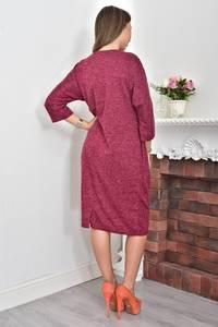 Платье короткое трикотажное однотонное Ф0050