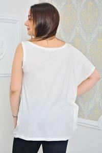 Туника летняя стильная белая Р0024