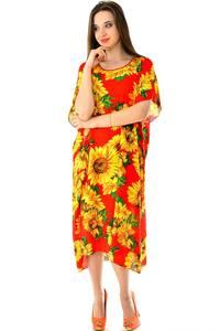 Платье длинное с коротким рукавом летнее Н7317