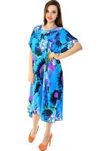Платье длинное с коротким рукавом летнее Н7318