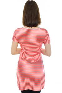 Туника-платье короткое с коротким рукавом летнее Н2530