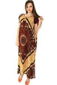 Платье длинное с коротким рукавом летнее Н7304