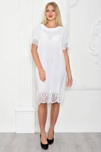 Платье длинное вечернее белое Т1084