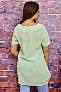Блуза с коротким рукавом прозрачная Т4114