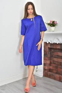 Платье короткое синее деловое Ф0054