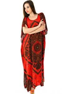 Платье длинное с коротким рукавом летнее Н7305