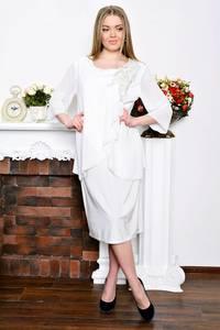 Платье длинное белое летнее Р7275