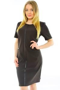 Платье короткое офисное черное Н0176