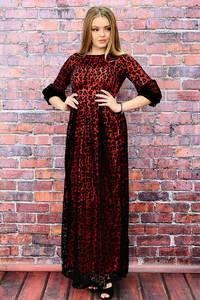 Платье длинное красное нарядное П6434