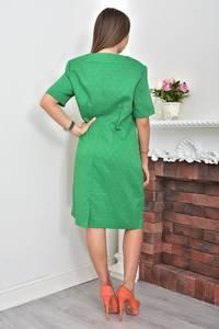 Платье короткое зеленое деловое Ф0055