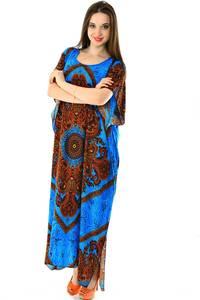 Платье длинное с коротким рукавом летнее Н7306