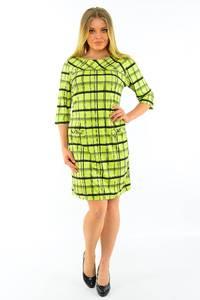 Платье короткое с принтом желтое М3738