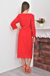 Платье короткое красное однотонное Ф0056