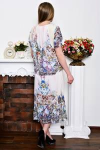 Платье длинное с принтом летнее Р7277