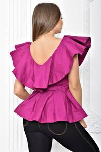 Блуза с баской летняя Т2261