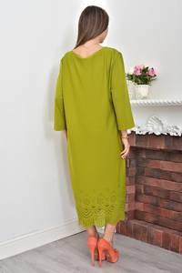 Платье короткое зеленое однотонное Ф0058