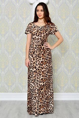 Платье длинное повседневное с принтом П8718