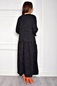 Платье длинное вечернее черное Т1958