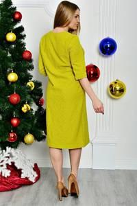 Платье длинное желтое вечернее П7388