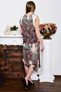 Платье длинное с принтом летнее Р7279
