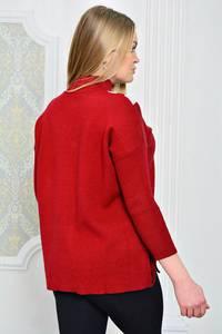 Кофта с длинным рукавом короткая красная Р0772