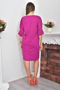 Платье короткое нарядное однотонное Ф0060