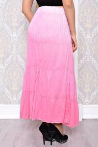 Юбка макси розовая в скрадку С7634