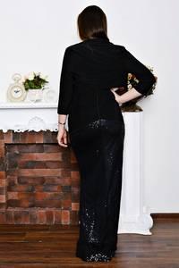 Платье Двойка длинное черное классическое Р5719