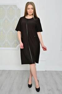 Платье короткое черное деловое Р0774