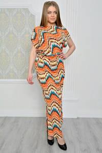 Платье длинное летнее с принтом Р0775
