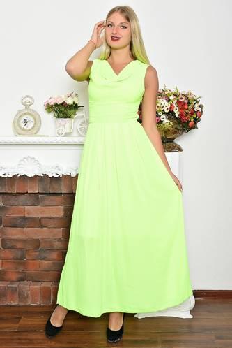 Платье длинное летнее без рукавов Т1093