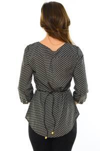 Блуза черная офисная М8896