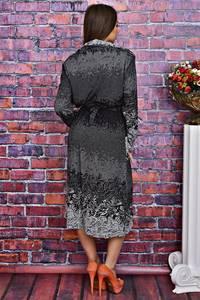 Платье длинное вечернее с принтом Т4132